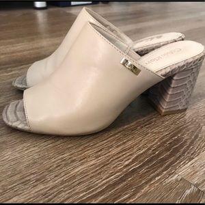 Size 5.5 Calvin Klein Snakeskin Mule Heels